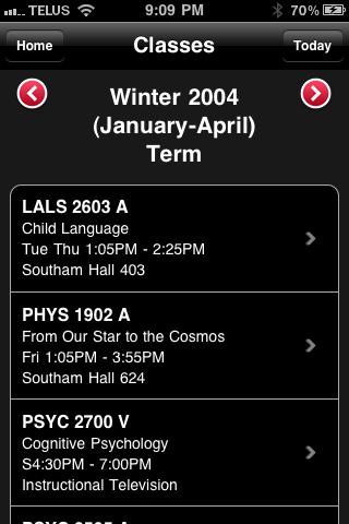 Term Schedule