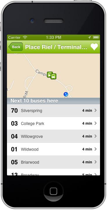 Saskatoon Transit Buses App Screenshot
