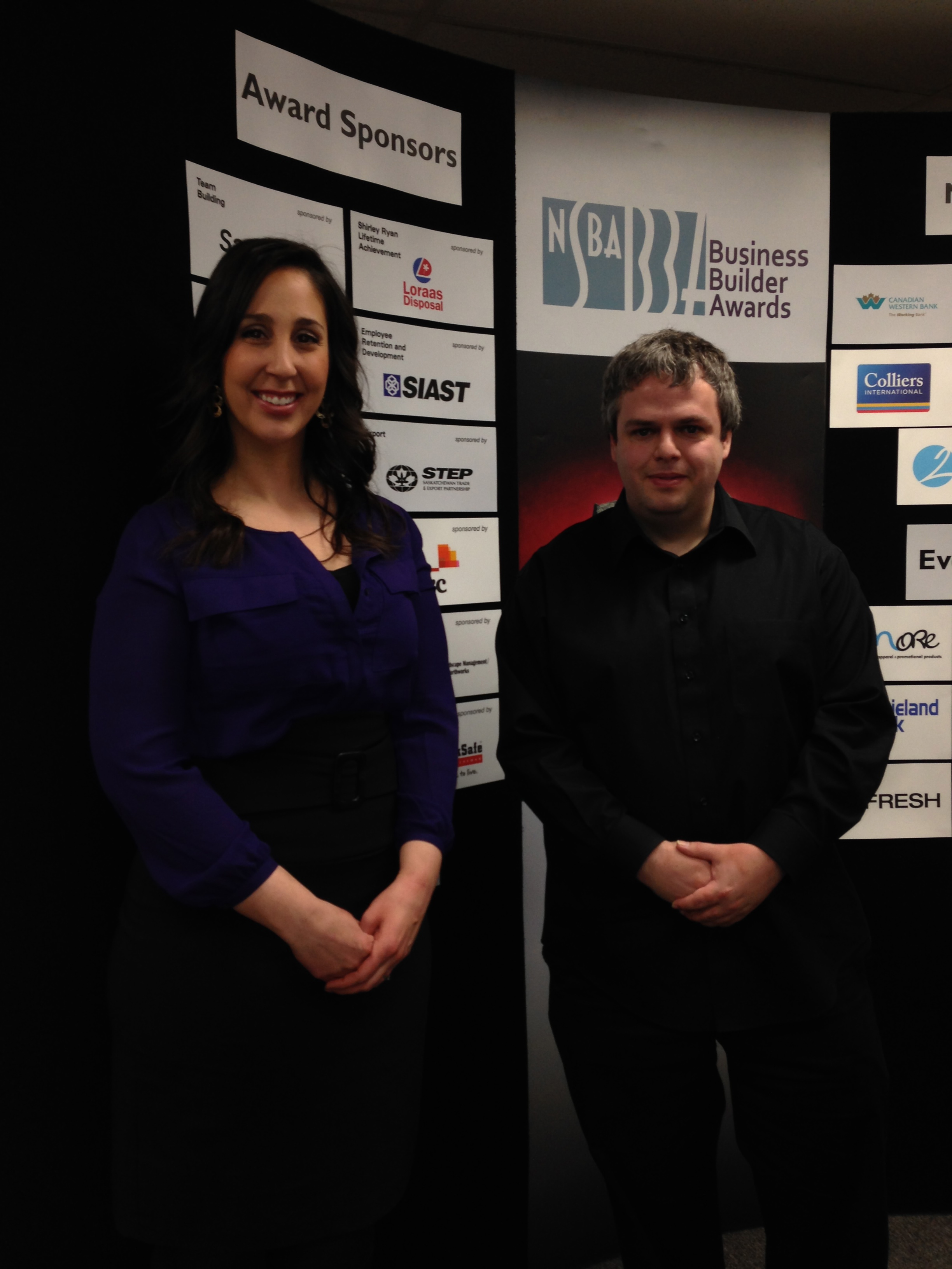 Chad Jones and I at the NSBA BBA Press Conference to announce the finalists
