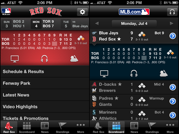 MLB.com at Bat - Sports App Review
