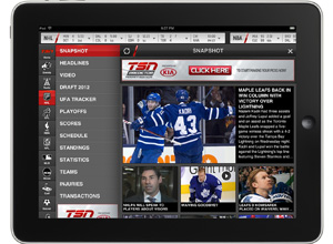 TSN GO for iPad - Sports app review