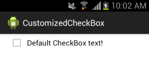 Android default CheckBox