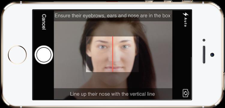 MYLashBook - Eyelash Technician App -  App taking the before photo