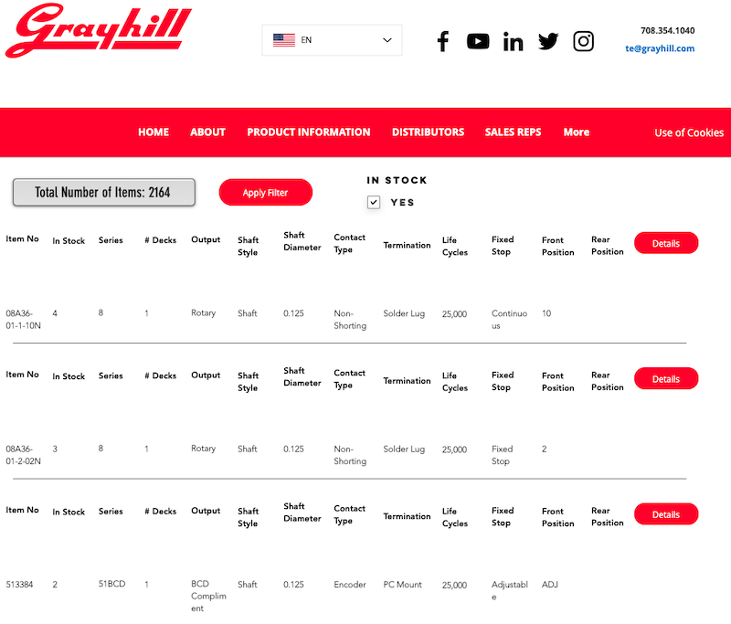 GrayHill Website