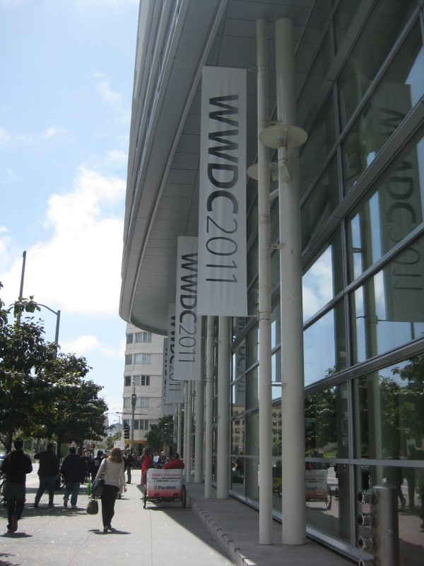 Outside Moscone Centre