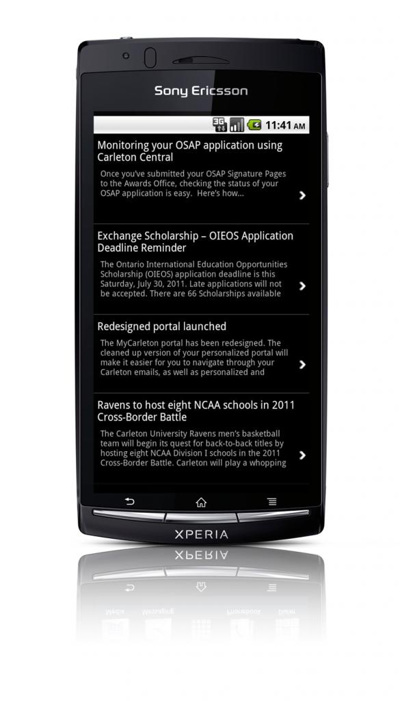 Sony Ericsson Xperia Arc News Screenshot