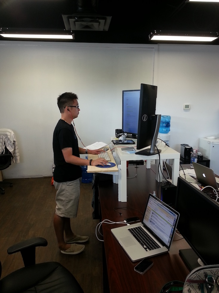 app development how to build a standing desk. Black Bedroom Furniture Sets. Home Design Ideas