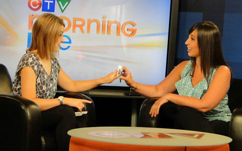 Taking Stephanie's heart rate this morning on CTV Morning Live