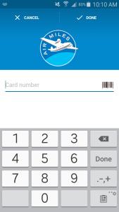 Stocard - enter card number