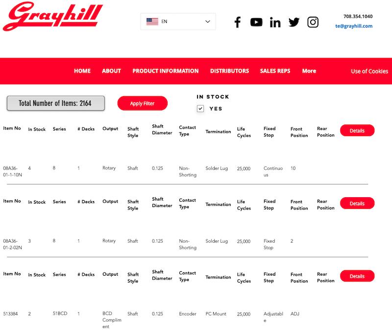 GrayHill Website