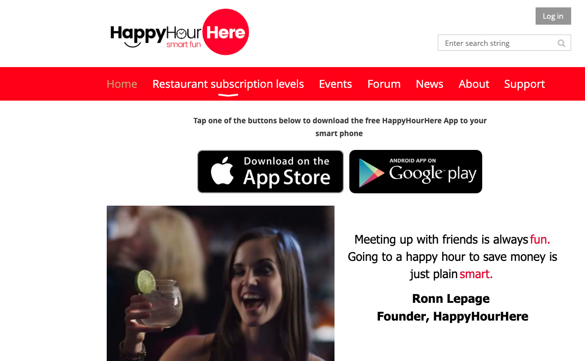 HappyHourHere Dashboard